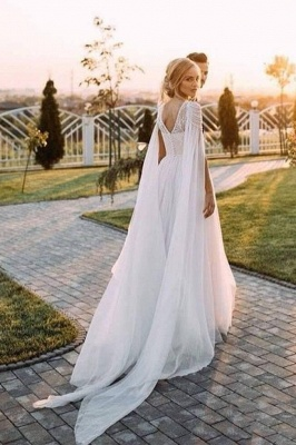 Gorgeous Off The Shoulder Tulle Beading A-Line Wedding Dresses