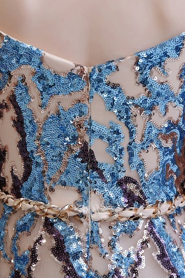 Glamorous Off-the-Shoulder Sequins Evening Gowns | Long Multi-Color Prom Dress_13