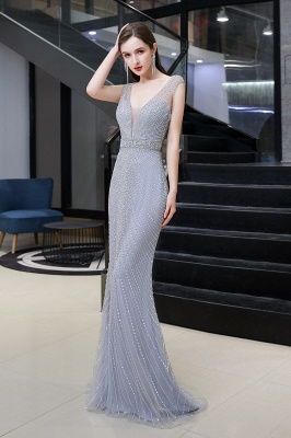 Luxurious Beadings Mermaid Prom Dress | Long Mermaid Evening Gowns_4
