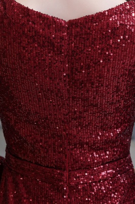 Gorgeous Sequins Long Sleeve Prom Dress | V-Neck Mermaid Evening Gowns_16