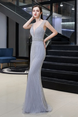 Luxurious Beadings Mermaid Prom Dress | Long Mermaid Evening Gowns_5