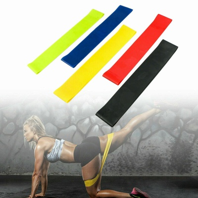5 PCS Per Set with Bag Elastic Yoga Stripes Rubber Resistance Gym Equipment Exercise Band Workout Pull Rope_7