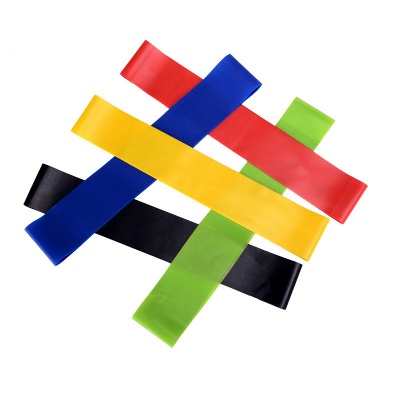 5 PCS Per Set with Bag Elastic Yoga Stripes Rubber Resistance Gym Equipment Exercise Band Workout Pull Rope_4