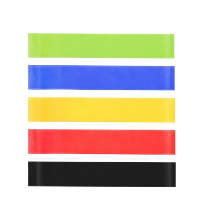 5 PCS Per Set with Bag Elastic Yoga Stripes Rubber Resistance Gym Equipment Exercise Band Workout Pull Rope_5