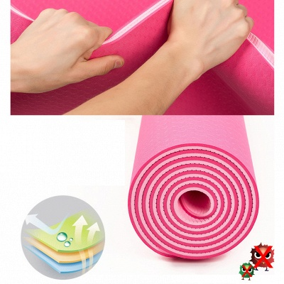 High Quality TPE Yoga Mats Home Exercise Pad Sport Health 183*61cm Yoga Blanket for Pilates On Sale_11