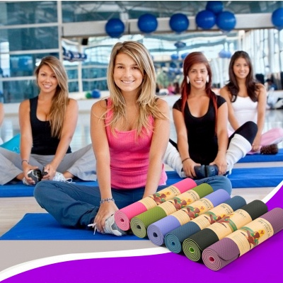 High Quality TPE Yoga Mats Home Exercise Pad Sport Health 183*61cm Yoga Blanket for Pilates On Sale