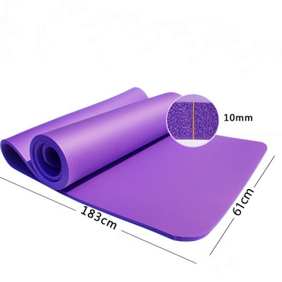 Free Shipping 183*61cm NBR Yoga Mats Lose Weight Solid Color Anti-skid Gymnastic Sport Equipment_2