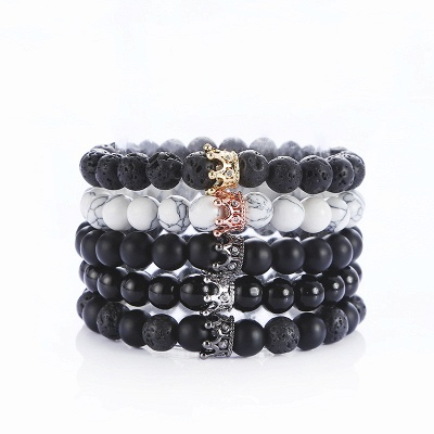 Natural Stone Lava Beads Bracelets Energy Women Men Yoga Charm Jewelry Accessories
