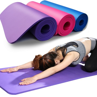 Free Shipping 183*61cm NBR Yoga Mats Lose Weight Solid Color Anti-skid Gymnastic Sport Equipment