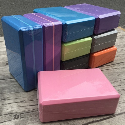 Yoga Blocks Home Exercise Fitness EVA Yoga Blocks Bricks Foaming Foam Gym Practice Tool Bricks