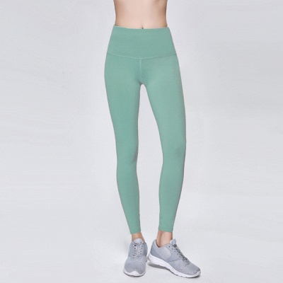 Solid Color High Waist Sports Gym Wear Leggings | Elastic Fitness Lady Overall Full Tights Workout Yoga Pants_6