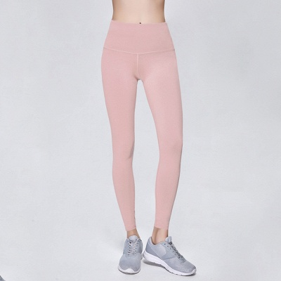 Solid Color High Waist Sports Gym Wear Leggings | Elastic Fitness Lady Overall Full Tights Workout Yoga Pants_4