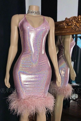 Sexy Spaghetti Straps Sequins Formal Party Dress Short Mini Prom Dress