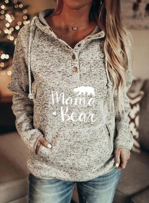 Women Animal Printed Long Sleeve Casual Sweatshirt & Hoodie