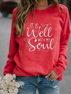 IT IS WELL WITH MY WITH MY SOUL Printed Sweatshirt_2