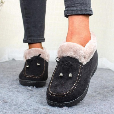 Cotton Shoes For Lady Winter Soft Soles Warm Shoes_8