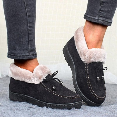 Cotton Shoes For Lady Winter Soft Soles Warm Shoes_2