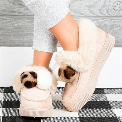 Fashion Wool Cotton Shoes Women Winter Warm Plus-Size Boots