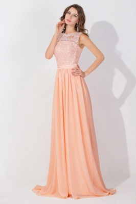 A-line Chiffon Tulle Lace Ruffles Bridesmaid Dress On Sale_4