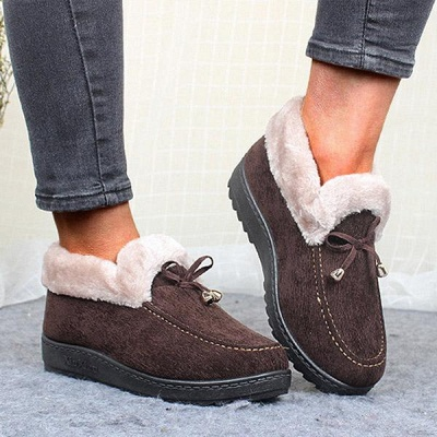 Cotton Shoes For Lady Winter Soft Soles Warm Shoes_4