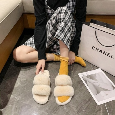 Fluffy Toe Post Casual Slipper On Sale_5