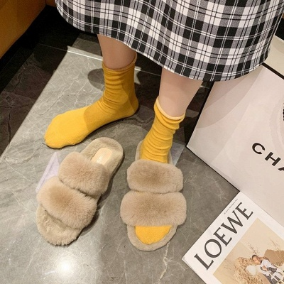 Fluffy Toe Post Casual Slipper On Sale