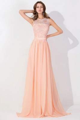 A-line Chiffon Tulle Lace Ruffles Bridesmaid Dress On Sale_5
