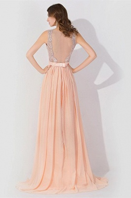 A-line Chiffon Tulle Lace Ruffles Bridesmaid Dress On Sale_2