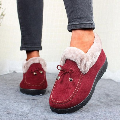 Cotton Shoes For Lady Winter Soft Soles Warm Shoes_5