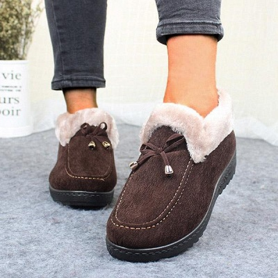 Cotton Shoes For Lady Winter Soft Soles Warm Shoes_11