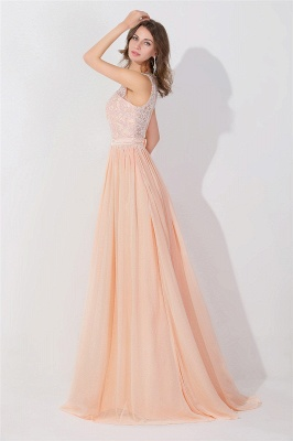 A-line Chiffon Tulle Lace Ruffles Bridesmaid Dress On Sale_3