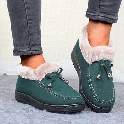 Cotton Shoes For Lady Winter Soft Soles Warm Shoes_3