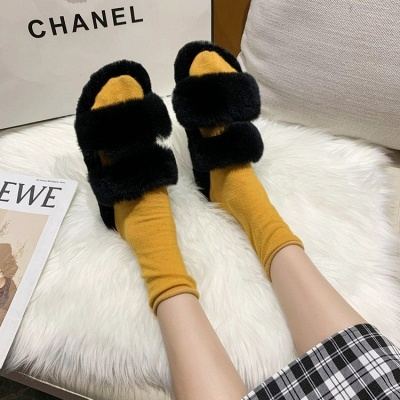 Fluffy Toe Post Casual Slipper On Sale_6