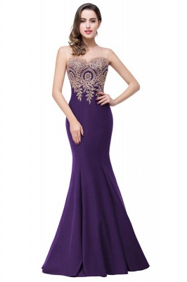 Women's Rhinestone Appliques Sheer Maxi Long Evening Prom Party Dress On Sale_9