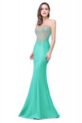 Women's Rhinestone Appliques Sheer Maxi Long Evening Prom Party Dress On Sale_17