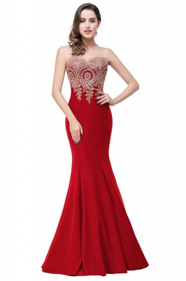 Women's Rhinestone Appliques Sheer Maxi Long Evening Prom Party Dress On Sale_4