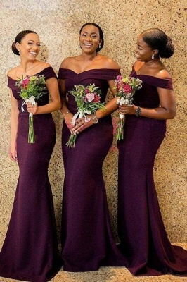 Affordable Mermaid Off-Shoulder Bridesmaid Dress On Sale