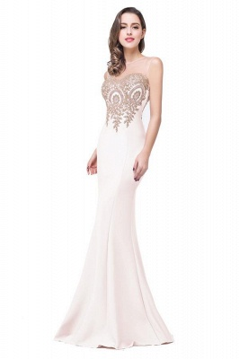 Women's Rhinestone Appliques Sheer Maxi Long Evening Prom Party Dress On Sale_1