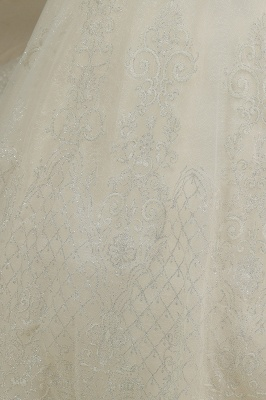 Gorgeous Short Sleeves Lace Wedding Dresses A-Line_4