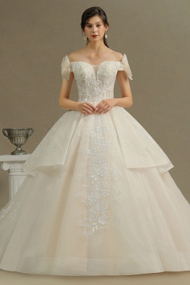 Women Strapless Lace  Wedding Dresses Long