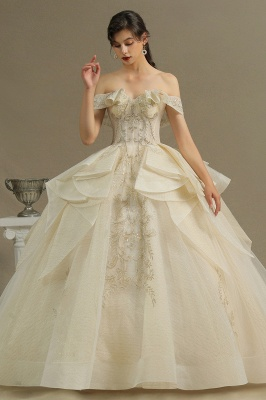 Gorgeous Off The Shoulder Lace Wedding Dresses Long
