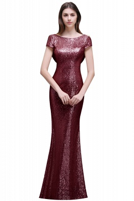Women Sparkly Rose Gold Long Sequins Bridesmaid Dress On Sale_1