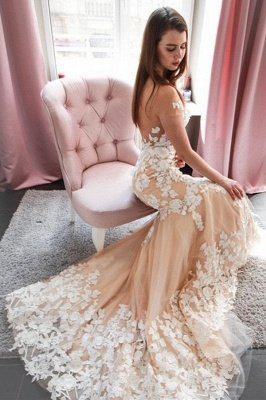 Romantic Sleeveless Lace Mermaid Wedding Dress Long