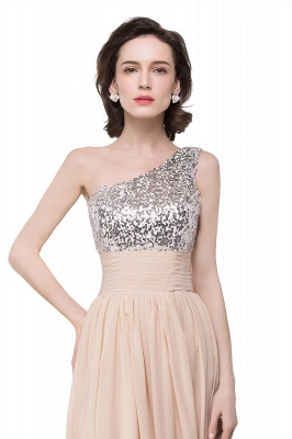 A-line Floor-length Chiffon Evening Dress with Sequined On Sale_9