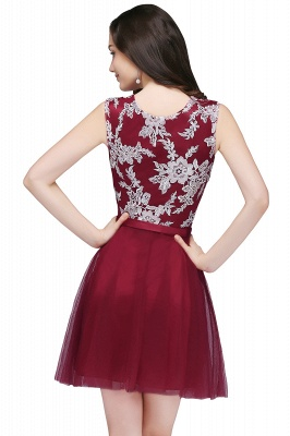 Pink Short Homecoming Dress with Lace Appliques On Sale_5