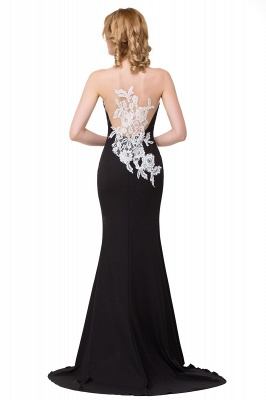 Mermaid Evening With Appliques For Women Formal Long Prom Dress On Sale_5