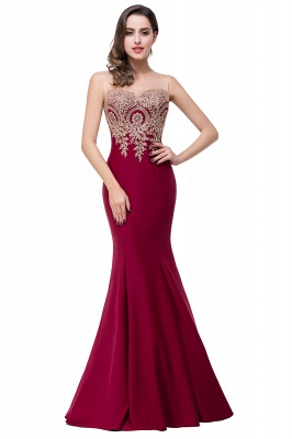 Women's Rhinestone Appliques Sheer Maxi Long Evening Prom Party Dress On Sale_6