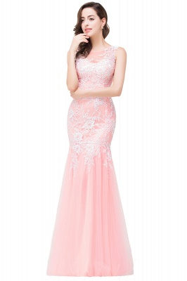Long Lace Mermaid Sleeveless Maxi Prom Dress On Sale