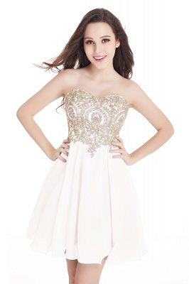 2020 Sweetheart Cheap Mini Short Appliques Homecoming Dresses_1