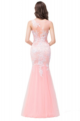 Long Lace Mermaid Sleeveless Maxi Prom Dress On Sale_9